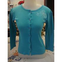 Espaço Fashion Blusa Casaquinho Tam. P Verde Cristais
