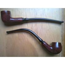 Pipa «modern» Para Tabaco, Hecha Con Auténtica Madera Brezo