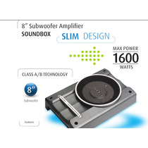 Caixa Amplificada Subwoofer Slim 8¿ 1600 Watts 200 Rms