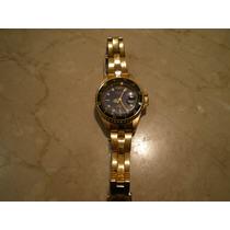 Relógio Ano 90 Technos Dourado Fundo Azul Raro
