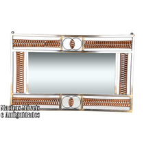 Moldura C/ Espelho, Argola, Em Ouro Velho ( Aparador )