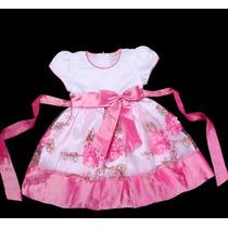 Vestido Infantil Festa/ Princesinha/dama/florista Bordado
