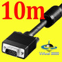 Cabo Vga 10 Metros M/m Blindado Profissional 10m Macho
