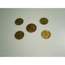 Colección De Cinco Monedas De 5 Centavos Y 10 Ctvs