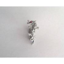 Piercing Para Umbigo Em Prata Modelo Dragão.