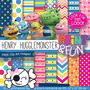 Kit Imprimible Pack Fondos Henry Monstruito Clipart