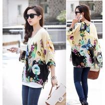 196 Blusa Holgada Estampado Floral Varios Colores