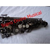 Sax Soprano Envelhecido Escovado Jahnke
