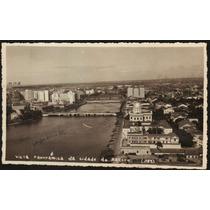Cartão Postal Antigo Recife Pe Vista Panorâmica 1953