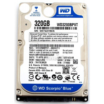 Disco Duro Western Digital 2.5 320 Gb (azul) Para Laptop