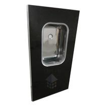 Mesada 1,62m Granitex C/ Reborde Aluminio Y Bacha Acero Inox