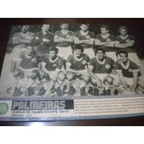 Poster Palmeiras Campeão Robertão 1967 21x27 Cm Placar