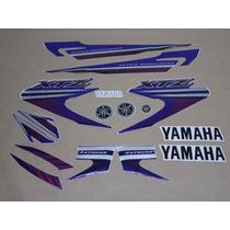 Kit Adesivos Yamaha Xtz 125 2008 Azul - Decalx