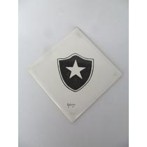 Azulejo Pintado À Mão Com Escudo Do Botafogo - 1978