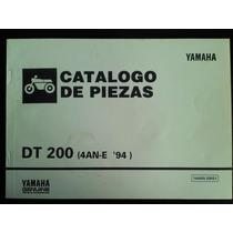 Catalogo De Peças Original Yamaha Dt-200 ( 4an-e ) Ano 1994