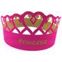 Coroa Papel P/ Festa Princesa Adulto E Infantil - 10 Unid