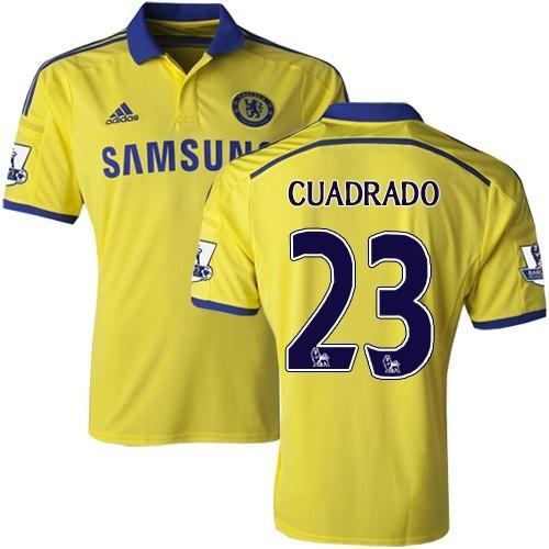 d02ef26a58 Camiseta Chelsea Visitante 2015 Cuadrado No. 23 Amarilla -   155.000 en Mercado  Libre