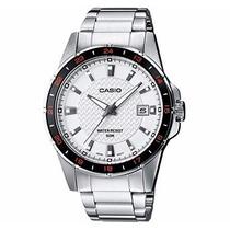 Relógio Casio Mtp-1290 D-7av Pulseira E Caixa De Aço Wr-50 M