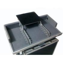 Hard Case P/ Cdj E Mixer Com Plataforma Suporte P/ Notebook