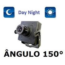 Mini Camera Ccd 1/3 Sony 1000linhas Lente 1,9mm Angulo 150°