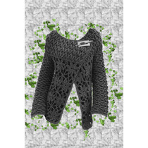 Saco - Campera Tejido Crochet Otoño - Invierno