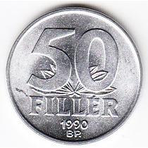 Hungría, Moneda De 50 Filler De 1990, Sin Circular