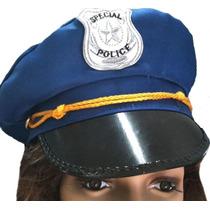 Gorra De Policia Con Visera E Insignia Unisex De Cotillon