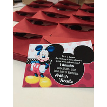 Convite Mickey + Envelope R$ 1,00 Cada