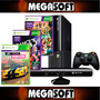 Xbox 360e Con Kinect 250gb Y 3 Juegos 220v Megasoft Floresta