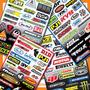Lamina De Calcomanias Factory Effex Fx Motocross Enduro Moto