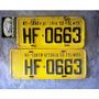 Placas Amarelas Gol Chevette Opala Fusca Maverick Rural Rs