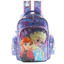 Mochila Escolar Frozen 18 Pulgadas Con Brillitos Disney