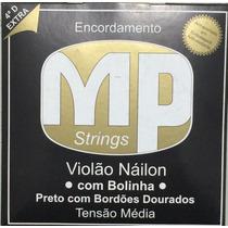 Paganini Jogo De Corda Violão Náilon Preto C/ Bolinha Mpe250