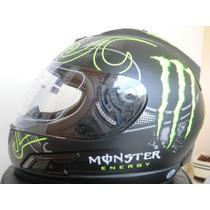 Capacete Monster Energy Helmet 2013 Importado Premium Abs