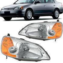 Par Farol Honda Civic 2001 2002 2003 Elétrico - Tyc