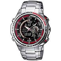 Relógio Casio Edifice Efa-121 Termômetro 50 Cidades Novo Pt