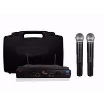 Microfone Profis.duplo Kadosh Kdsw 402m S/fio Uhf + Cabo P10