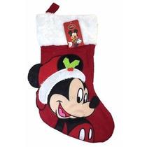 Media De Navidad Disney Mickey Mouse Rojo 18
