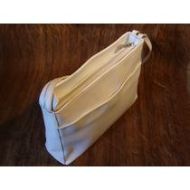 Bolsa Smart Bag 100 % Couro Cor Branco
