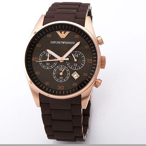 2d03c30f66f Relógio Emporio Armani Ar5890 Marrom Rose Garantia Com Caixa - R  369