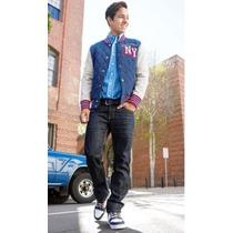 Sweater Aeropostale-new York Varsity Jacket 100%algodon