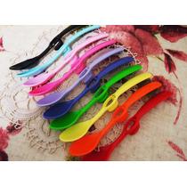 Cucharas De Plastico Color Con Soporte P/taza X 10 Unidades