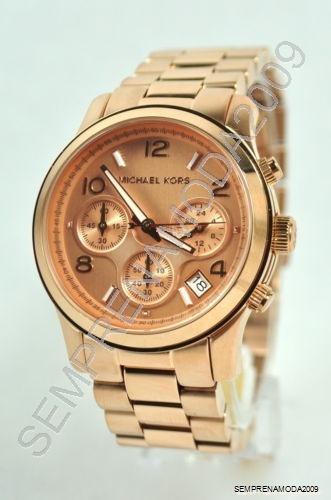 Relógio Michael Kors Mk5128 Rose Lindo Com Caixa E Manual. - R  476,49 em  Mercado Livre 2ab9eb2d55