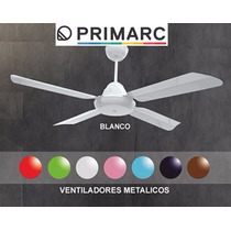 Ventilador De Techo 4 Palas Metal Blanco Directo De Fabrica