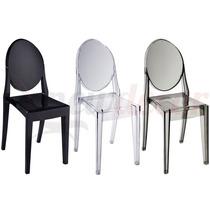 Cadeira Louis Ghost Em Policarbonato S/ Braço- 12x Sem Juros