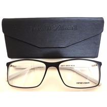 Ea6171 Unissex Armação Óculos De Grau Preto E Branco + Case