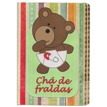 50 Convites De Chá De Fraldas (bebê) Ursinho