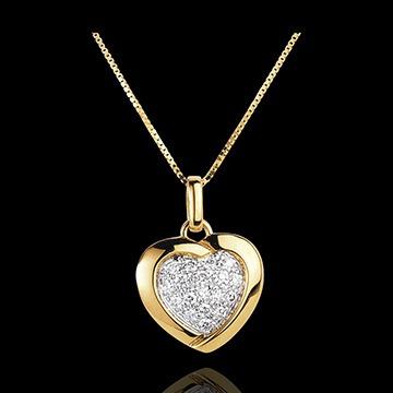 72f2493caa6e9 Pingente Coração D amante De Ouro 18k + Corrente Ouro 18k - R  1.350 ...