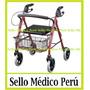 Andador Ortopedico Plegable C/ Ruedas Frenos Canasta Asiento