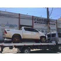 Sucata Toyota Hilux Srv 2.8 Diesel 2016 Peças Motor Lataria